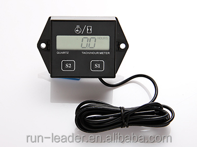 Digital Inductive Engine Hour Meter Tach Hour Meter For Gasoline Engine,Snowmobile,Lawn Mower,Boat,Marine,Jet Ski