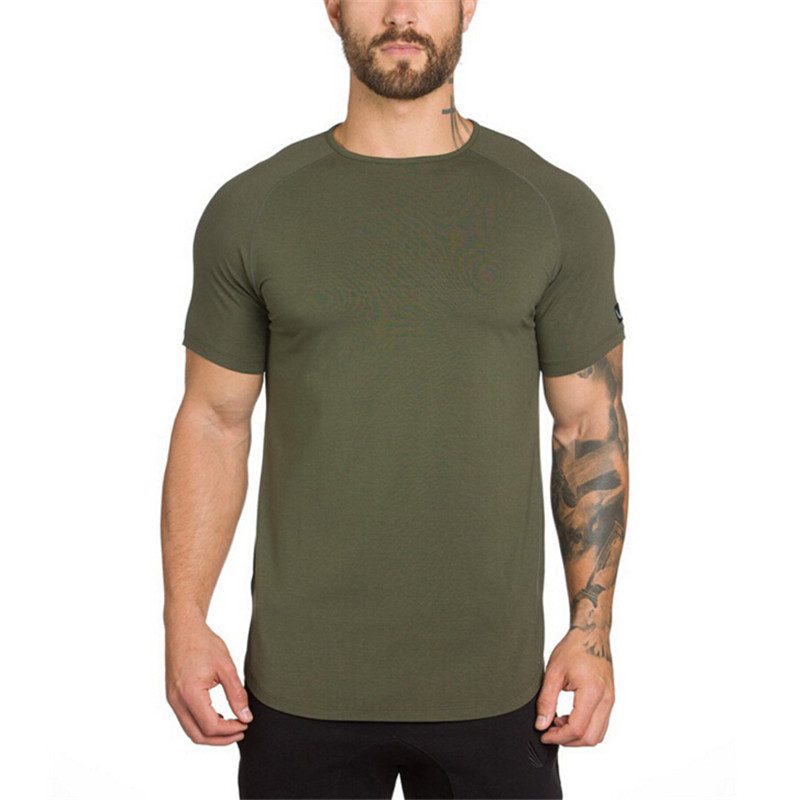 O Neck Sexy Men T-Shirt Muscle Fit T Shirt-2