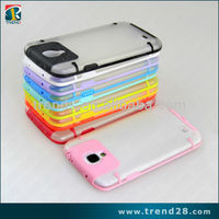 clear dust plug pc tpu shell case for Samsung Galaxy S4