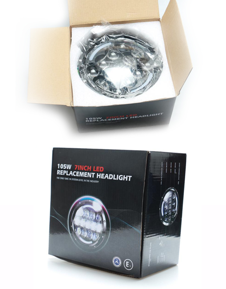 LOYO Original High Quality Osram 7'' 105W led headlight for Jeep Wrangler JK LY-7''-105W
