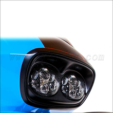 Aftermarket Amber 60W 90W Double Face Black LED Motorcycle Headlight LED Universal with Turn Signal