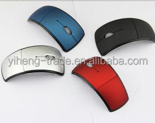 Fashion Mini USB 2.4G Snap-in Transceiver Optical Foldable Folding Wireless Mouse For PC Laptop Computer
