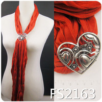 heart magnetic scarf clip wholesale