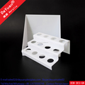 White Stage Riser / Handmake Wine Bottle Holder Display Rack