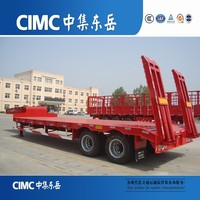 CIMC Gooseneck Forestry Machines Transporting Low Loaders, Low Deck Semi Trailers and Truck Trailers