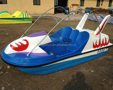 2 seats fiberglass foot paddle boat for sea
