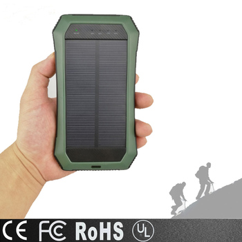 new Mini Power bank custom made Logo 8000mah Solar Power Bank With Led Lcd Light Digital Display ,