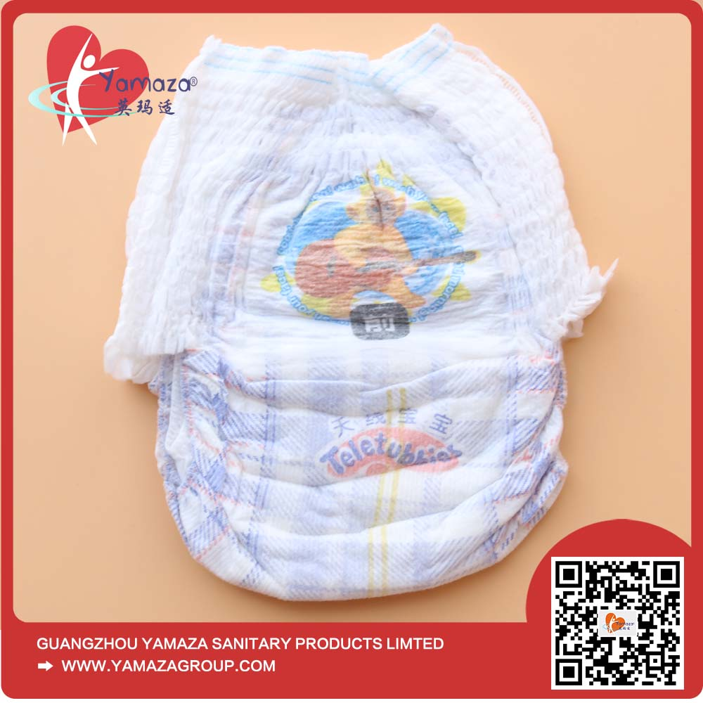 High quality soft absorption slim panty 360 daiper disposable baby training clothlike pants diaper