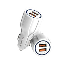 Standard dual USB car travel adapter with concise design