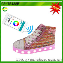 APP control Battery Operated Rechargeable USB children LED Light Shoes, Lover LED Light Shoes