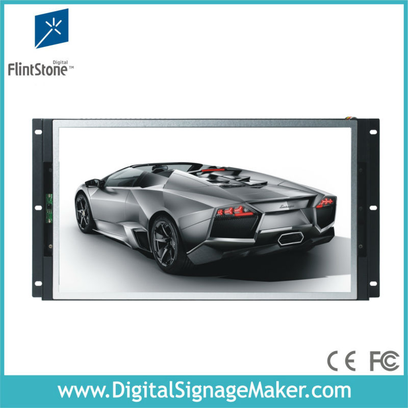 19'' open frame monitor metal shell all in one advertising player