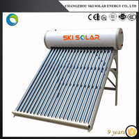 square solar water heater