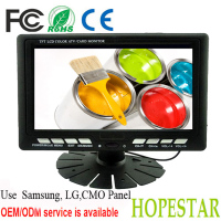 7 inch Digital Panel Car Headrest Monitor with AV, TV Tuner, USB/SD Card and IR Transmitter Function