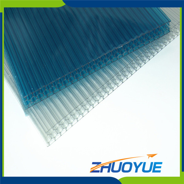 High Strength super clear 6mm polycarbonate hollow sheet
