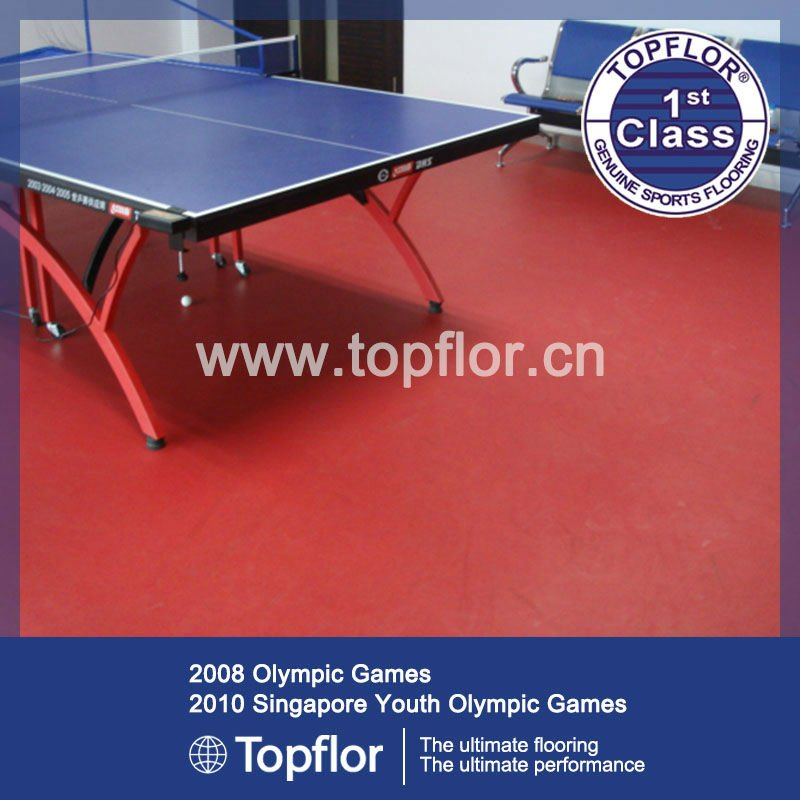 Hot sale indoor PVC table tennis court surfaces 6.0mm
