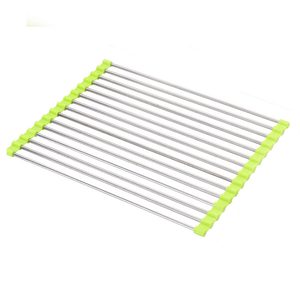 Foldable Roll Up Vegetable Drain Rack Folding Kitchen Sink Dish Rack Drying Rack