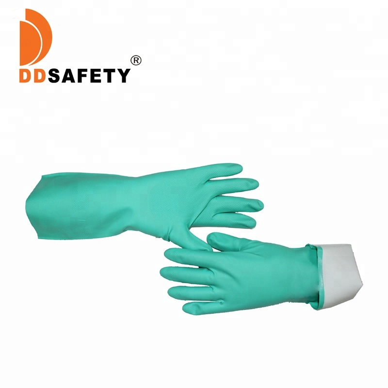 DDSAFETY 2017 Green Nitrile Construction <strong>Safety</strong> Working Gloves