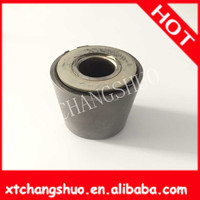 wrapped oil free bush Customized black auto silicone rubber bushing for shock absorber