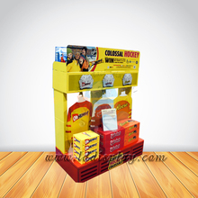 Custom retail cardboard clothes display stand for shop
