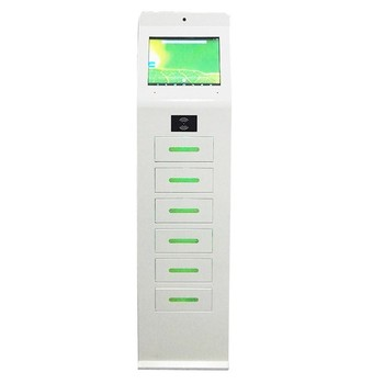 Restaurant mall usb charging station with touch advertising screen