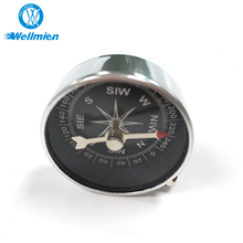 Outdoor Camping Hiking Aluminium Alloy Silver Car Compass