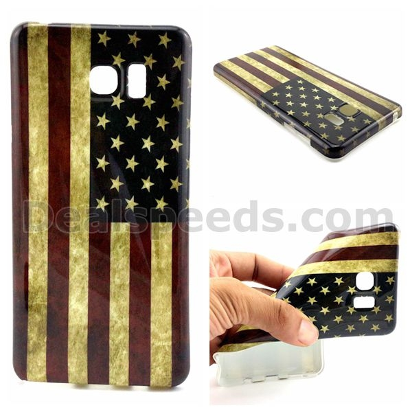 USA Flag Back TPU Case for Samsung Galaxy Note 5