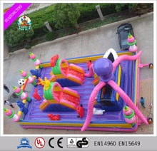 HTHL-009 Hot Sale Commercial Cheap Inflatable Bouncer Jumping Bouncy Castle With Slide