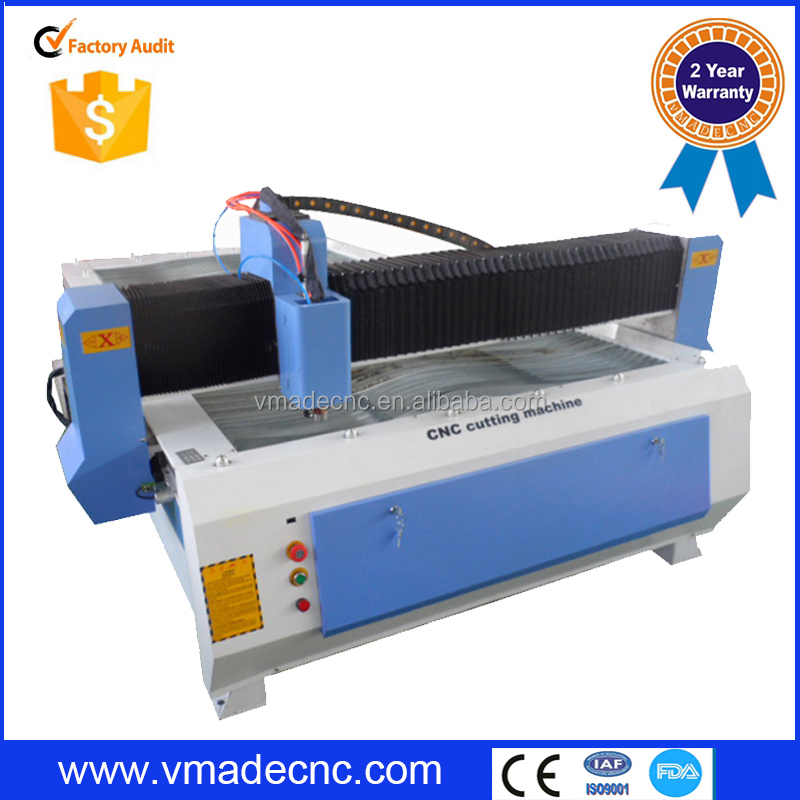 Alibaba China Sheet Metal plates cnc plasma cutter/ plasma cutting machine vmade1325 for stainless steel