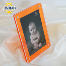JINBAO tabletop custom 3-face images/3d-effect stylish acrylic photo frame with logo