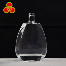 Wholesale crystal white glass xo bottle clear glass brandy bottle 100cl
