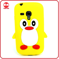 Fancy Animal Designed Penguin Skin Silicone Case for Samsung Galaxy S3 Mini I8190