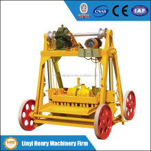 QMY4-45 Stable performance mobile concrete block making machine, small hollow blocks machines, manual interlocking block machine