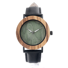 Wooden round case watches, latest version wrist watch custom design logo