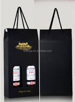 customized reusable 3 liter tote red wine bag, paper bag