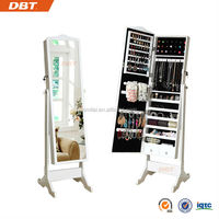 2013 new products wood Mirrored Jewelry Organizer