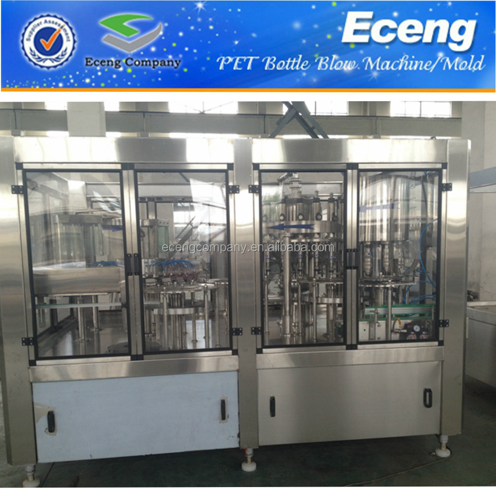 Automatic mineral water/juice filling machine 3-in-1