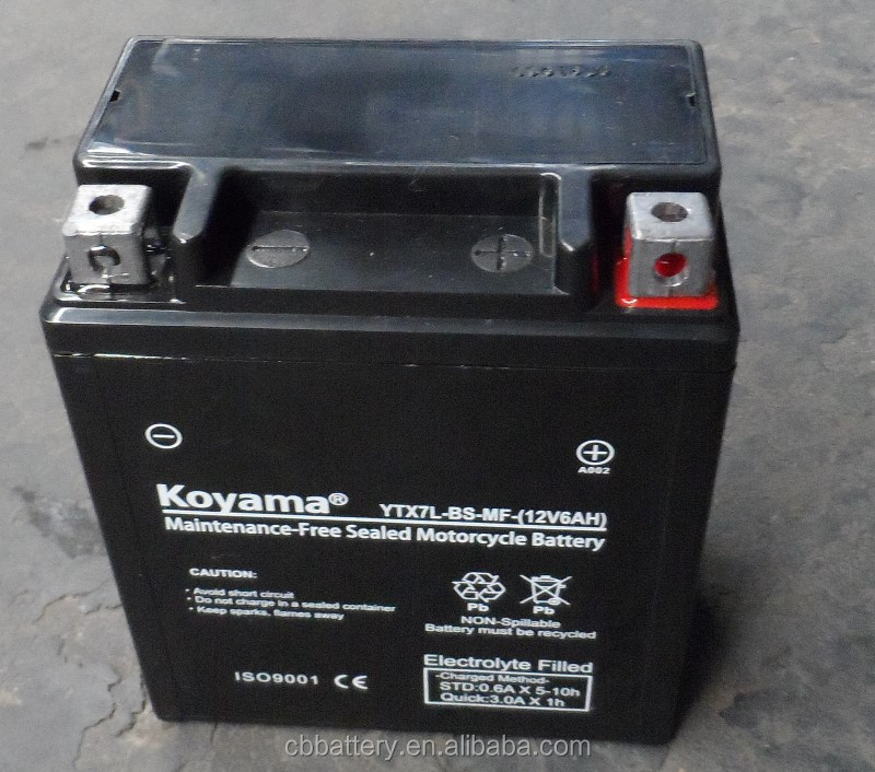 Wholesale Batteries For Sales12V 6Ah-YTX7L-BS Motorcycle Battery Price Of Motorcycle Dry Batteryfor Motorcycle