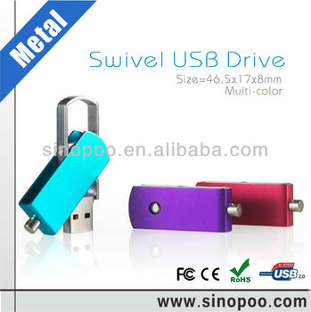Cheap metal swivel USB Flash drive