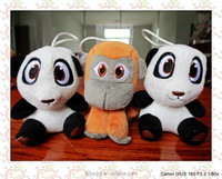 Made in China panda, monkey plush stuffed toys