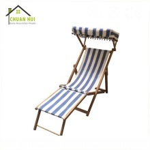 Luxury personalize swim pool sun wood deck chair with armrests , umbrella beach chairs