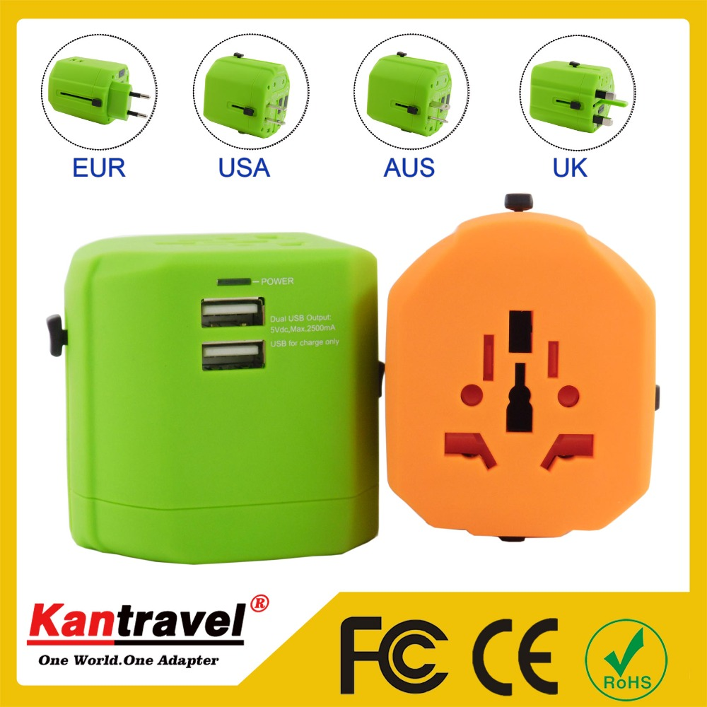 Top Quality 2 USB Ports 2fuse cooperate wholesale universal multi travel charger Plugs Sockets