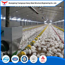 China prefabricated house chickens /steel frame chicken house for broiler
