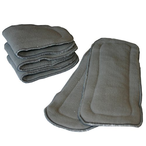 HappyEndings 5 Layer Charcoal Bamboo Inserts Reusable Liners for Cloth Diapers