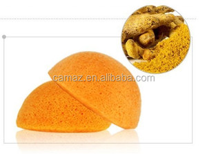 Natural Turmeric Natural facial deep cleansing Konjac Sponge