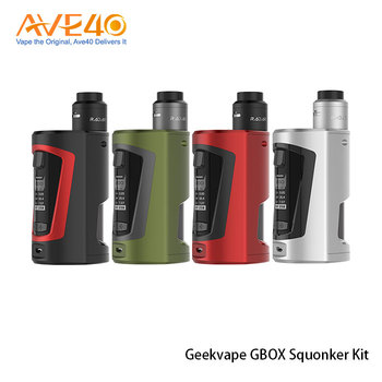Geekvape E-cigarette GBOX Squonk Kit Enlarged OLED Display GBOX Squonker Kit With Dual 18650 Batteries