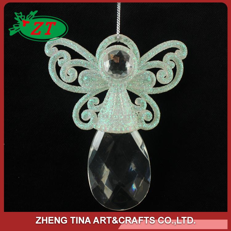 Atacado anjo lanterna de vidro enfeites de natal decorações do partido