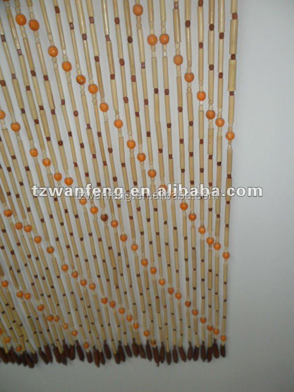 Interior decoration wooden curtain sheer organza curtain