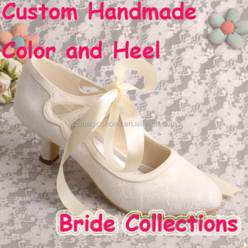 Women Lace Shoes Wedding