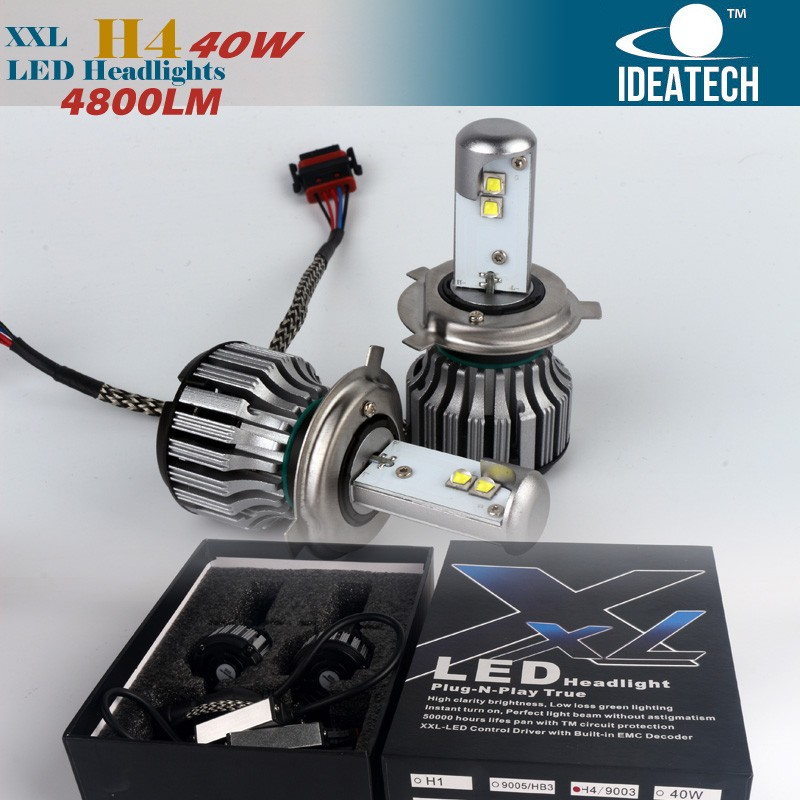 high power led car headlight 6000lm H4 car headlight booster 3000k 6000k