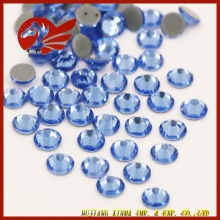 High Quality Strong Glue Hot Fix Rhinestone Light Sapphire Crystal on Garment